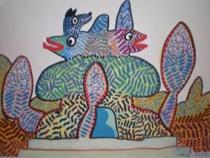 Mr. Fish's fishhouse, 2003, 30x40cm
